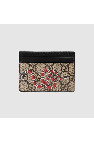Gucci Kartenetui aus GG Supreme mit Königsnatterprint