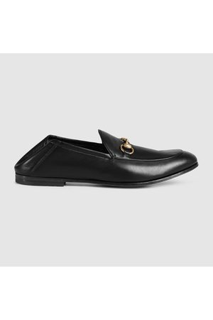 Gucci Halbschuh mit Horsebit aus Leder