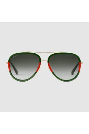 Gucci Pilotensonnenbrille aus Metall