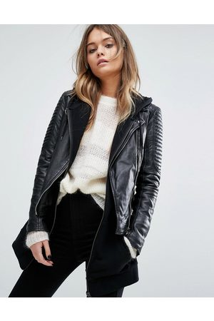 GOOSECRAFT Bottom zip detail biker jacket