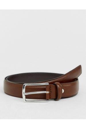 Jack & Jones Premium leather belt in brown