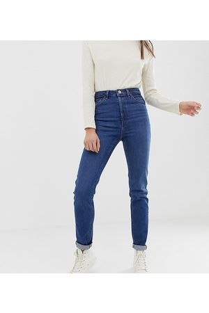 ASOS ASOS DESIGN Tall Recycled Farleigh high waisted slim mom jeans in dark wash