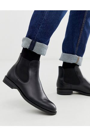 Selected Leather chelsea boots in