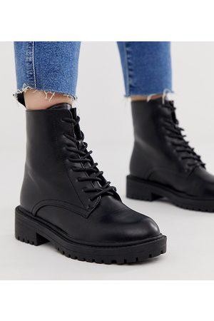 Raid Wide Fit Exclusive Micah lace up flat boots with eyelets