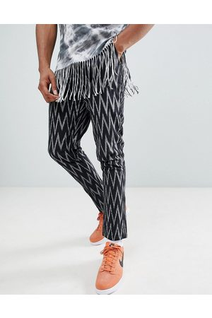 ASOS Festival tapered trousers in aztec print