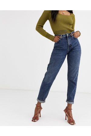 Topshop Mom jeans in dark wash