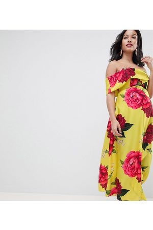 ASOS ASOS DESIGN Maternity bandeau dress with dipped hem in floral print
