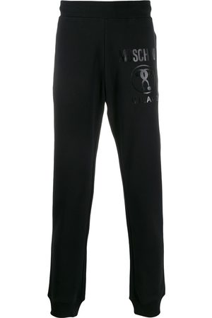 Moschino Herren Jogginghosen - Double Question Mark print track pants