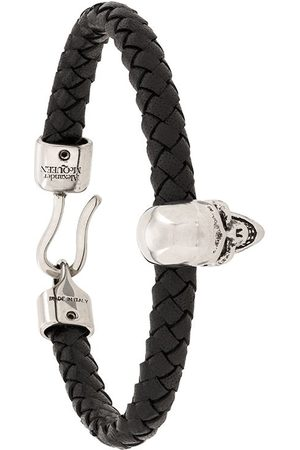 Alexander McQueen Herren Uhren - Skull charm braided bracelet