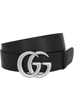 "Gucci 40mm Breiter Glattledergürtel ""gg"""