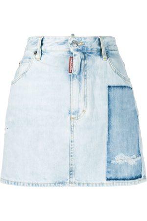 Dsquared2 Damen Jeansröcke - Dalma patch denim skirt