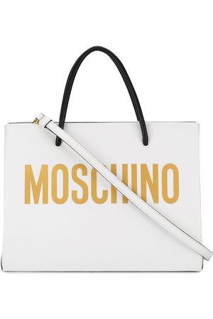 Moschino Square logo print tote bag