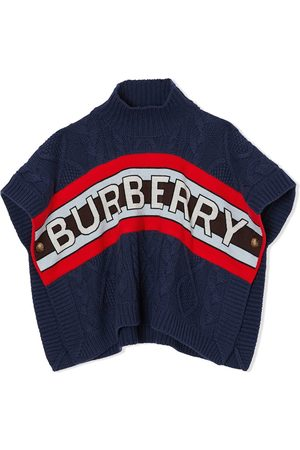 Burberry Logo cable-knit short sleeve jumper