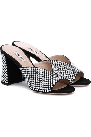 Miu Miu Verzierte Sandalen aus Leder