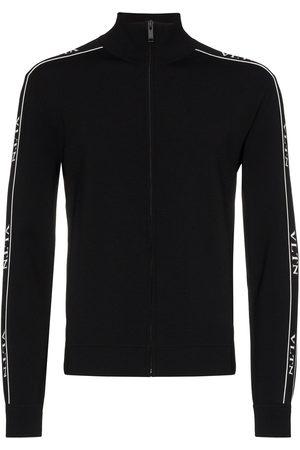 VALENTINO Logo-print zipped track sweatshirt