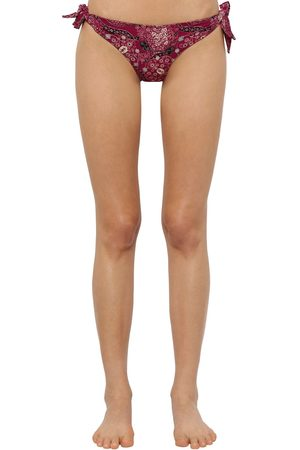 Isabel Marant Sukie Printed Lycra Bikini Bottoms