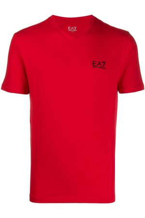 EA7 Logo print slim-fit T-shirt