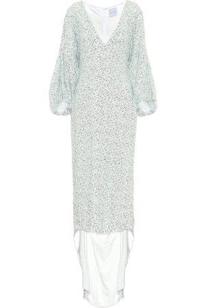 HALPERN Asymmetrisches Kleid mit Pailletten