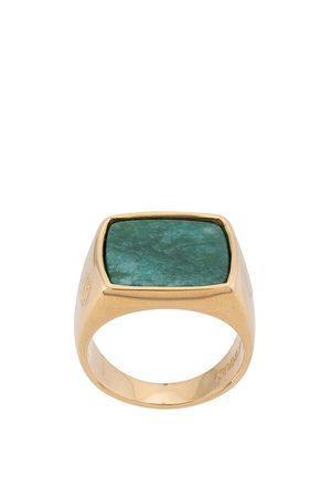 Nialaya Herren Ringe - Squared signet ring