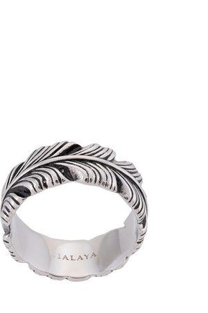 Nialaya Jewelry Herren Ringe - Feather engraved ring