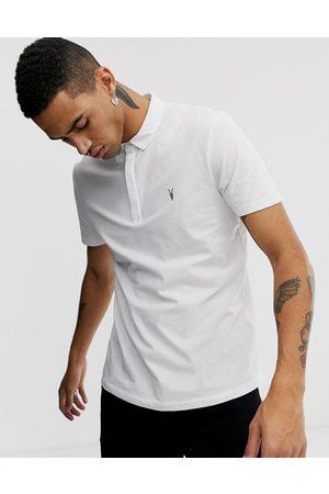 AllSaints Brace ramskull logo polo shirt in