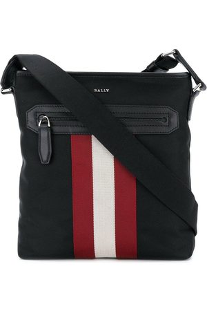 Bally Stripe detail logo shoulder bag
