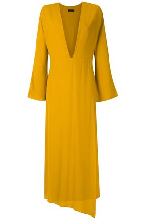 Osklen Ouro plunge maxi dress