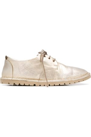 MARSÈLL Metallic-effect lace-up shoes