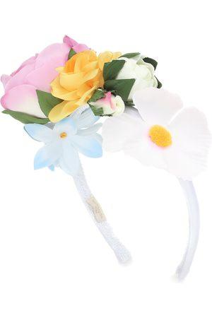 MONNALISA Haarreif mit Blumenapplikationen