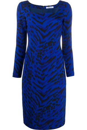 Blumarine Damen Bedruckte Kleider - Zebra print dress