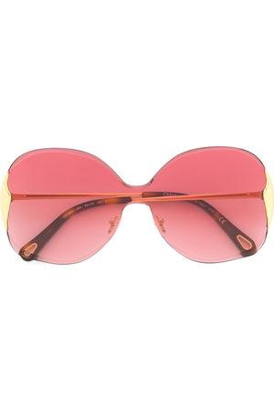 Chloé Two-tone oversized frame sunglasses