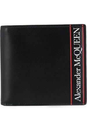 Alexander McQueen Striped detailed logo wallet