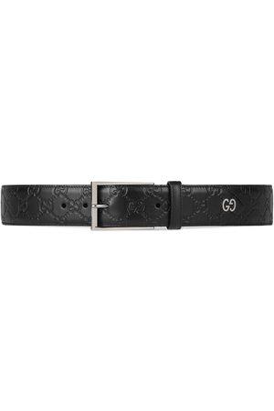 Gucci Herren Gürtel - Signature belt with GG detail