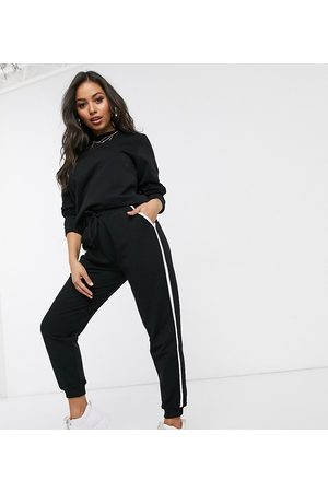 ASOS ASOS DESIGN Petite tracksuit sweat / basic jogger with tie with contrast binding in organic cotton