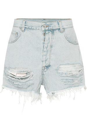 UNRAVEL Damen Shorts - High-Rise Jeansshorts