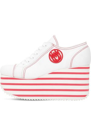 Miu Miu 100mm Cotton Platform Sneakers
