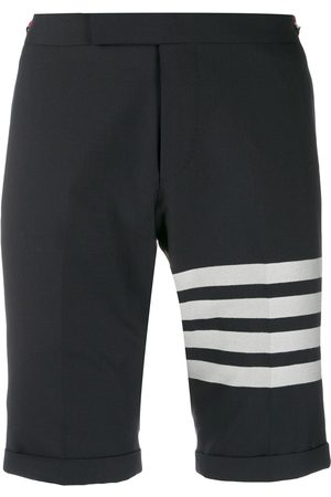 Thom Browne 4-Bar Navy Low Rise Shorts