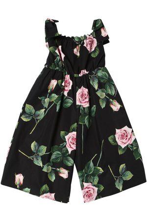 Dolce & Gabbana Overall Aus Baumwollpopeline Mit Rosendruck