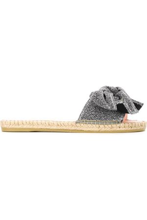 MANEBI Hamptons bow jute-sole slides