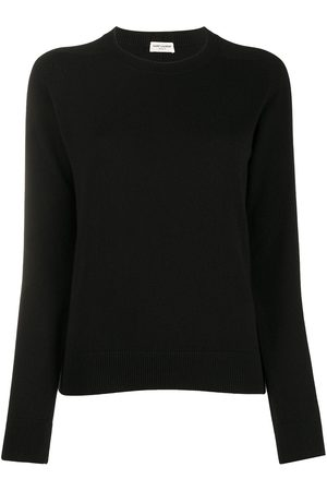 Saint Laurent Cashmere ribbed crew neck jumper