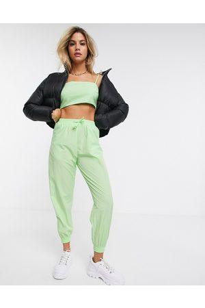 ASOS Shell jogger in lime