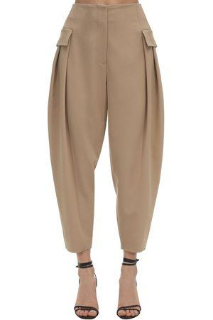 Stella McCartney Damen Cargohosen - Tailored Stretch Wool Cargo Pants