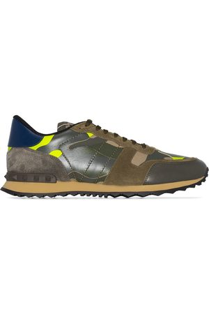 VALENTINO Garavani Rockrunner leather camouflage print sneakers