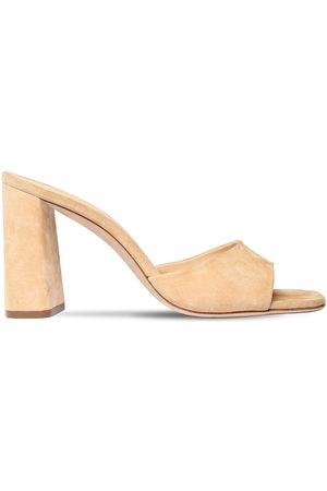 By Far 90mm Juju Suede Mule Sandals