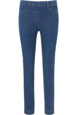 Peter Hahn Damen Jeans - Knöchellange Schlupf-Jeans denim