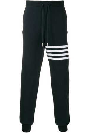 Thom Browne 4-Bar Stripe Navy Sweatpants