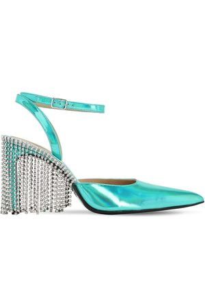 AREA 90mm Iridescent Faux Leather Pumps