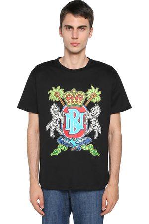 Neil Barrett Herren Shirts - Printed Cotton Jersey T-shirt