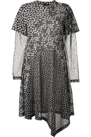 GOEN.J Damen Asymmetrische Kleider - Floral print asymmetric dress