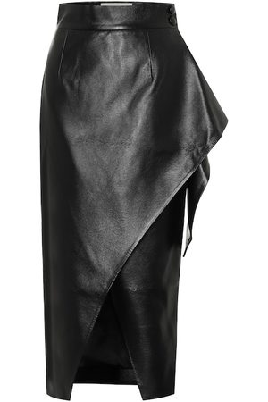 Matériel Tbilisi Faux-leather wrap skirt